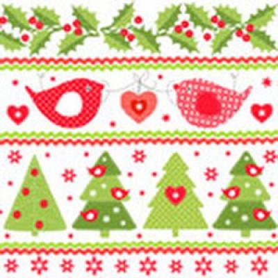 "Салфетка 33х33 см 3-х слойная, Atelier, ""Счастливое Рождество"""